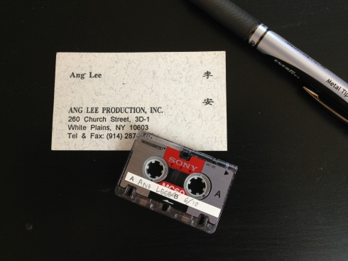 Business card and interview tape, circa 1993.